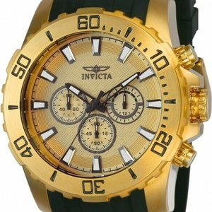 Invicta Men's 22558 Pro Diver Black &  Gold Watch